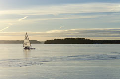 Sailing on ice Stock Images