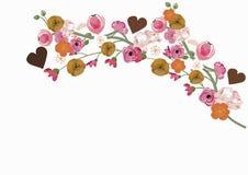 Sakura and peonies Royalty Free Stock Photo