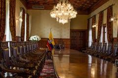 Sala del consiglio del palazzo ecuadoriano Fotografia Stock Libera da Diritti