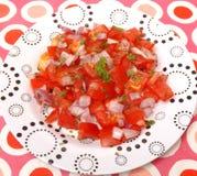 Salade van tomaten Royalty-vrije Stock Afbeeldingen