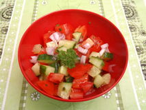 Salade van tomaten Royalty-vrije Stock Foto