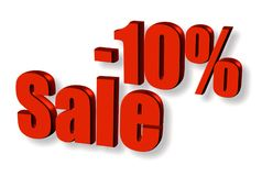 Sale with 10% off Royalty Free Stock Photos
