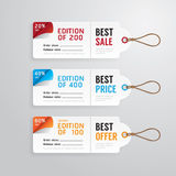 Sale banners price tag paper card template collection.vector Royalty Free Stock Image