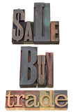 Sale, buy and trade Stock Photography