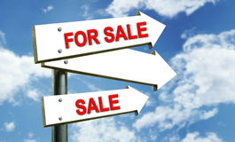 For Sale sing Royalty Free Stock Photography