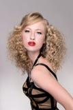 Salon fashion hair model Stock Photography