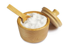 Salt with spoon in bowl Stock Photography