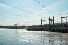 Salto power plant dam Stock Images