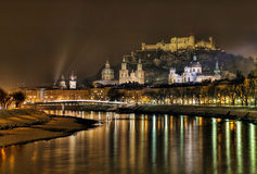 Salzburg by night Royalty Free Stock Photo