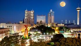 San Antonio en Volle maan Royalty-vrije Stock Fotografie