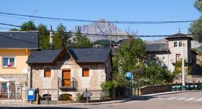 San Emiliano - Stadt gelegen in der Provinz von Leon Lizenzfreies Stockfoto