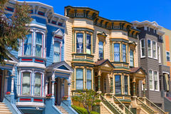 San Francisco Victorian houses in Pacific Heights California Royalty Free Stock Photography
