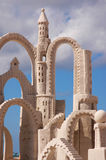 Sand castle tower Royalty Free Stock Images