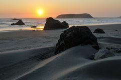 Sand Dunes and Sea Stacks near Gold Beach, Oregon Stock Images