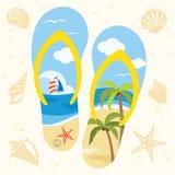 Sandal on the Beach Royalty Free Stock Photos