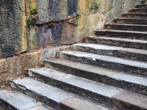 Sandstone Steps and Cliff Royalty Free Stock Images