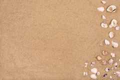 Sandy beach background, copy space, summer Stock Image