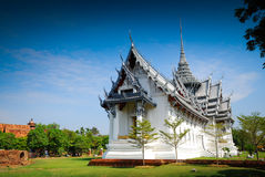 Sanphet Prasat Palace in Thailand Stock Images