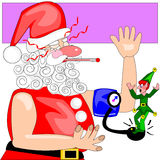 Santa does not feel well Royalty Free Stock Images