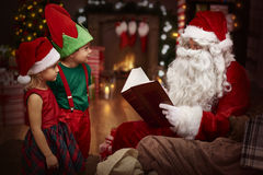 Santa with kids Royalty Free Stock Photography