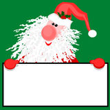 Santa with a sign. Stock Photo