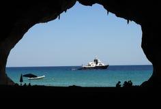 Sardinia: a window into the blue Stock Image