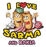 Sarma et rakia Photographie stock libre de droits