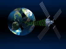 Satellite communications Stock Images