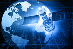 Satellite communications concept Stock Photo