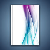 Satin bright blue smooth soft lines folder cover Royalty Free Stock Images