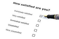 Satisfaction survey Royalty Free Stock Photography