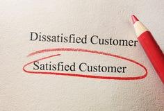 Satisfied Customer survey Royalty Free Stock Photos