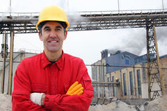 Satisfied industrial worker Royalty Free Stock Photography