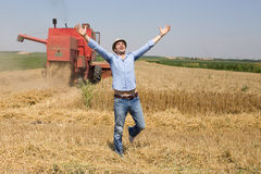 Satisfied man in the field Royalty Free Stock Photography