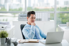 Satisfied manager Royalty Free Stock Images
