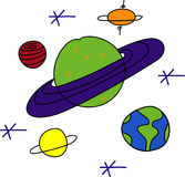 Saturn Astronomy Royalty Free Stock Photography