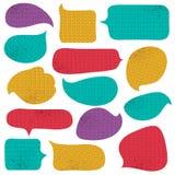 Satz der speziellen Farbblase mit Strickwarenbeschaffenheit, Vektor Lizenzfreie Stockbilder