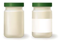 Sauce bottle template. Stock Photos