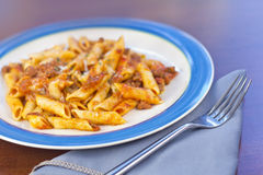 Sauce and Pasta Royalty Free Stock Images