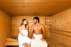 Sauna bath in a steam room Royalty Free Stock Images