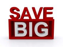 Save big sign Royalty Free Stock Image