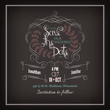Save the Date Calligraphy Stock Photos