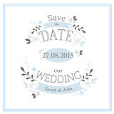 Save the date card  Royalty Free Stock Photo