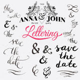 Save the date hand lettering. Royalty Free Stock Photo