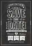 Save the date invitation Royalty Free Stock Photography