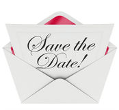 Save the Date Invitation Party Meeting Event Envelope Schedule Stock Photo
