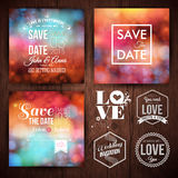 Save the date for personal holiday cards. Wedding invitation set Stock Photography