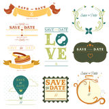 Save the date tag Stock Image