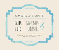 Save the date with watercolor frame Stock Images