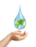 Save Earth/ Water Concept Royalty Free Stock Photo